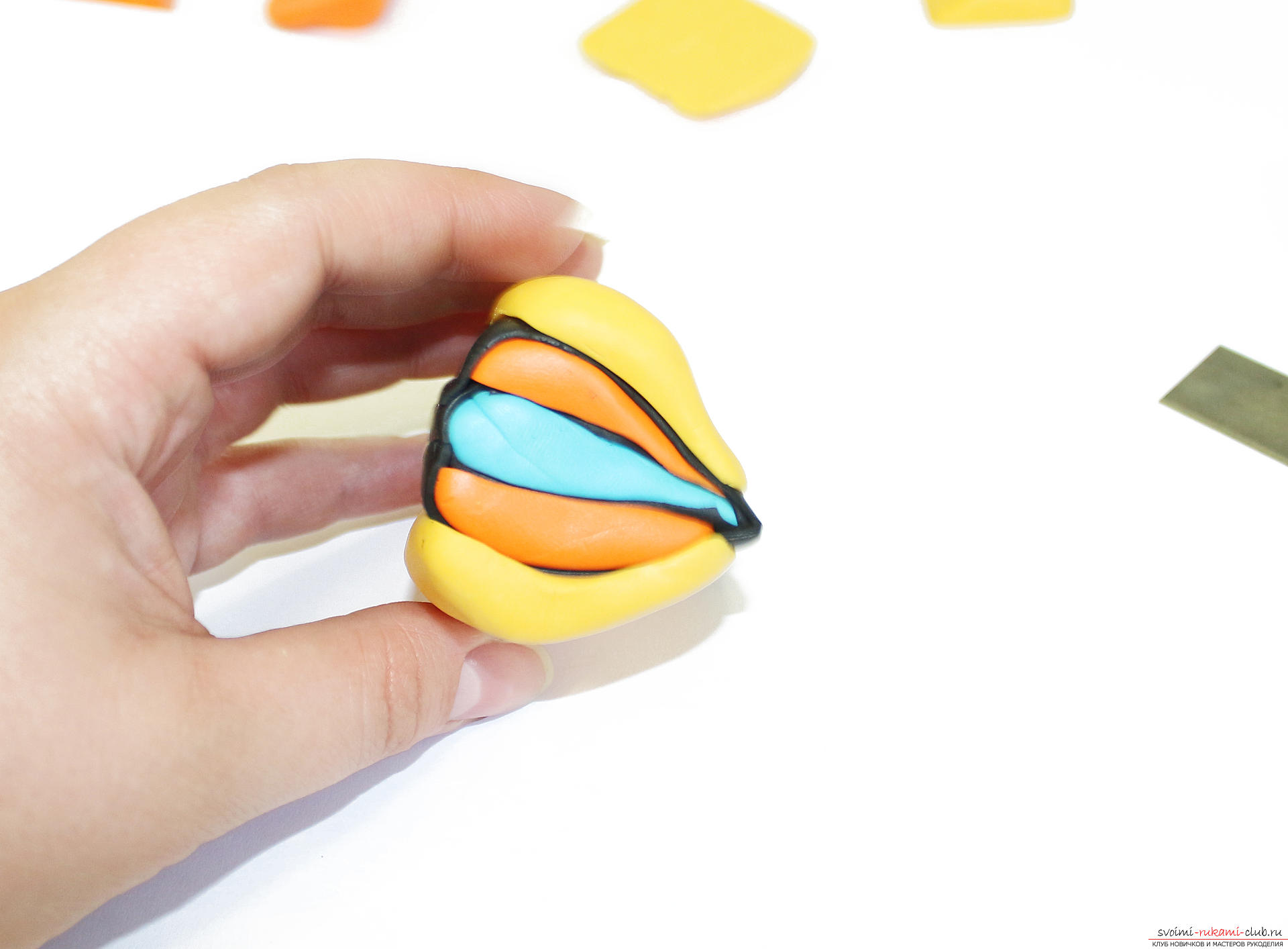 This detailed master class contains techniques for working with polymer clay and will teach you how to make key beads and polymer beads. Photo # 10