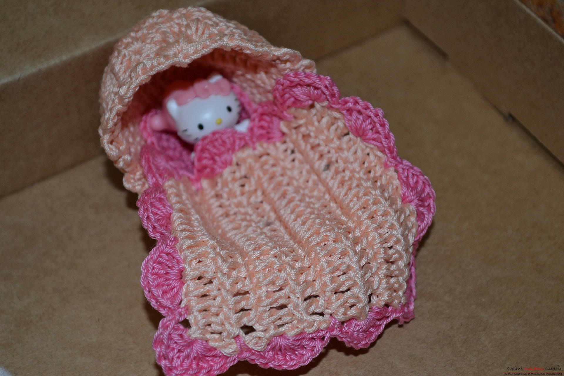 This master class for beginners will teach crochet souvenirs for the birth of a child. Photo Number 11