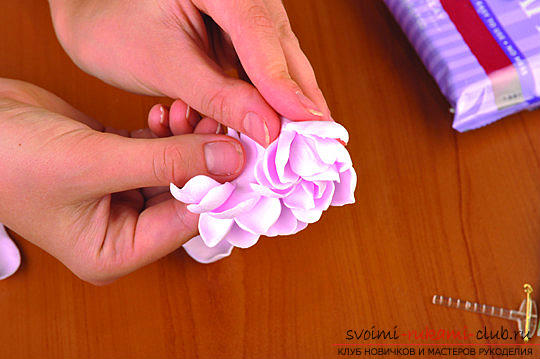 Master classes on the creation of bouquets of polymer clay with a description and photos .. Picture №40