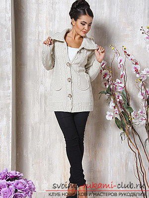 Original and comfortable clothes with knitting needles for winter - 2015. Photo №11