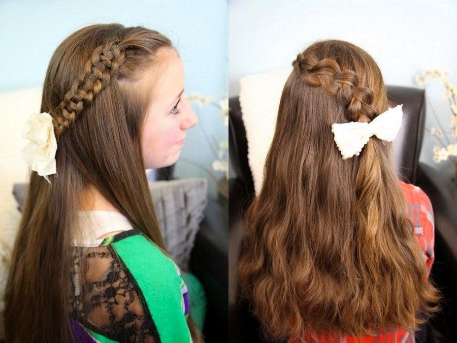 Hairstyles for school for long hair. Photo №7