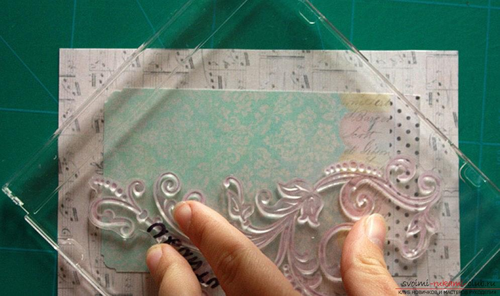 How to make a New Year's card in vintage style with your own hands? Master class and lesson. Picture №3