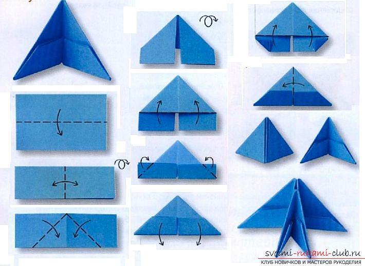 Hoe maak je handgemaakte artikelen in de klassieke origami, het maken van een kerstboom in de techniek van modulaire origami .. Foto # 37