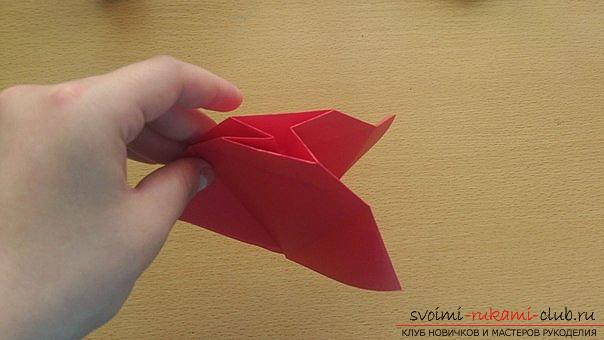 This detailed master class contains an origami-dragon scheme made of paper, which you can make by yourself. Photo # 16