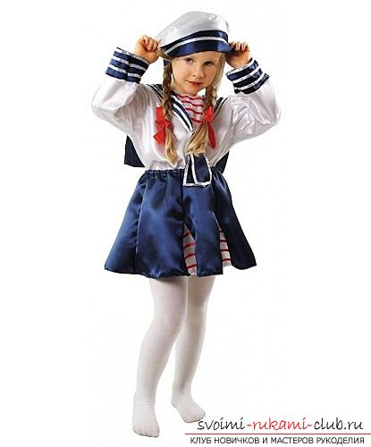 Child sailor suit, how to sew a sailor's suit for a boy with his own hands, how to sew a cap and collar with his own hands .. Photo # 22