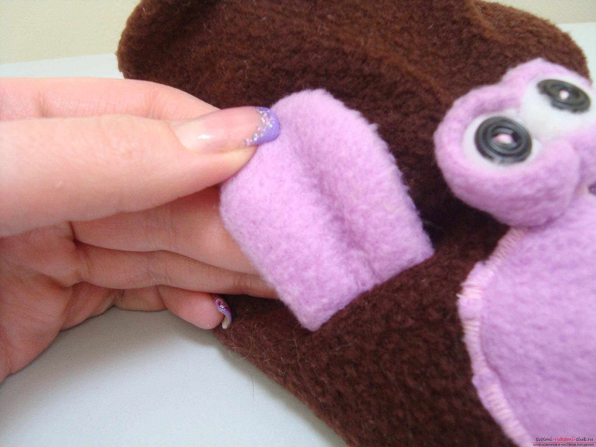 This master class will teach how to sew hand-made house slippers with the symbol of the year - the monkey .. Photo # 6