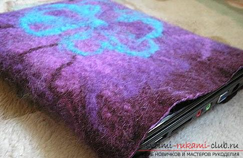 How to make a laptop and tablet cover using felting ?. Photo №4
