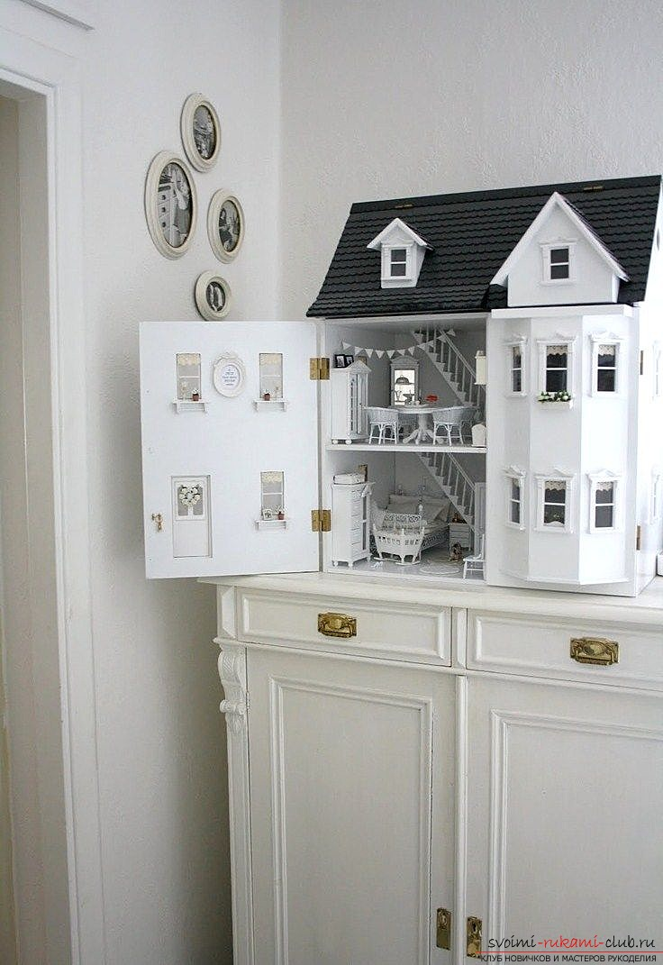 How to make a doll house from improvised funds with your own hands? - Practical moments and tips for creating. Picture №3