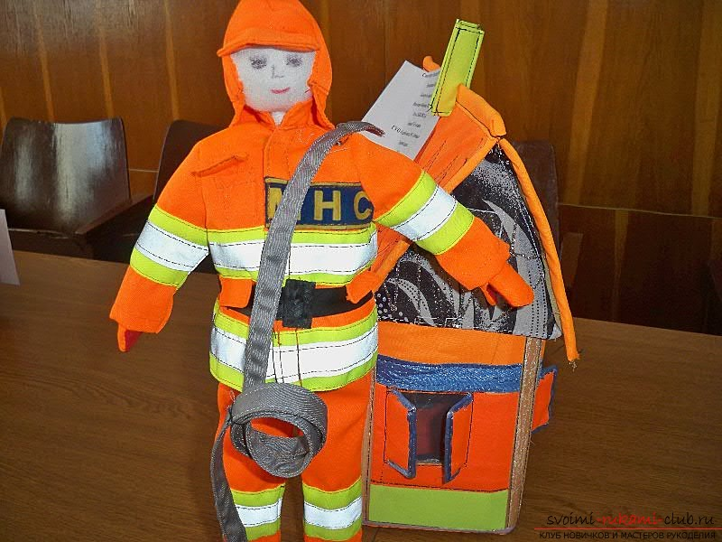 Beautiful solutions for crafts for the fire safety contest, photos .. Photo # 3