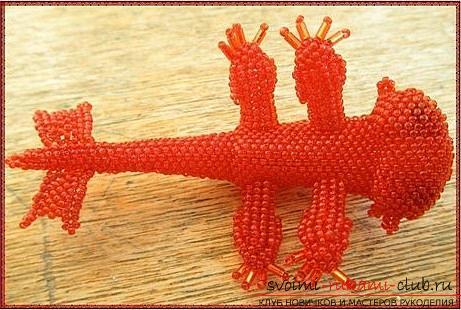 Два безкоштовних майстер класу з плетіння з бісеру іграшок Беззубіка і водяного дракончика .. Фото №5