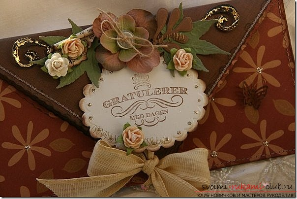 Romantic envelope with your own hands. Photo №8
