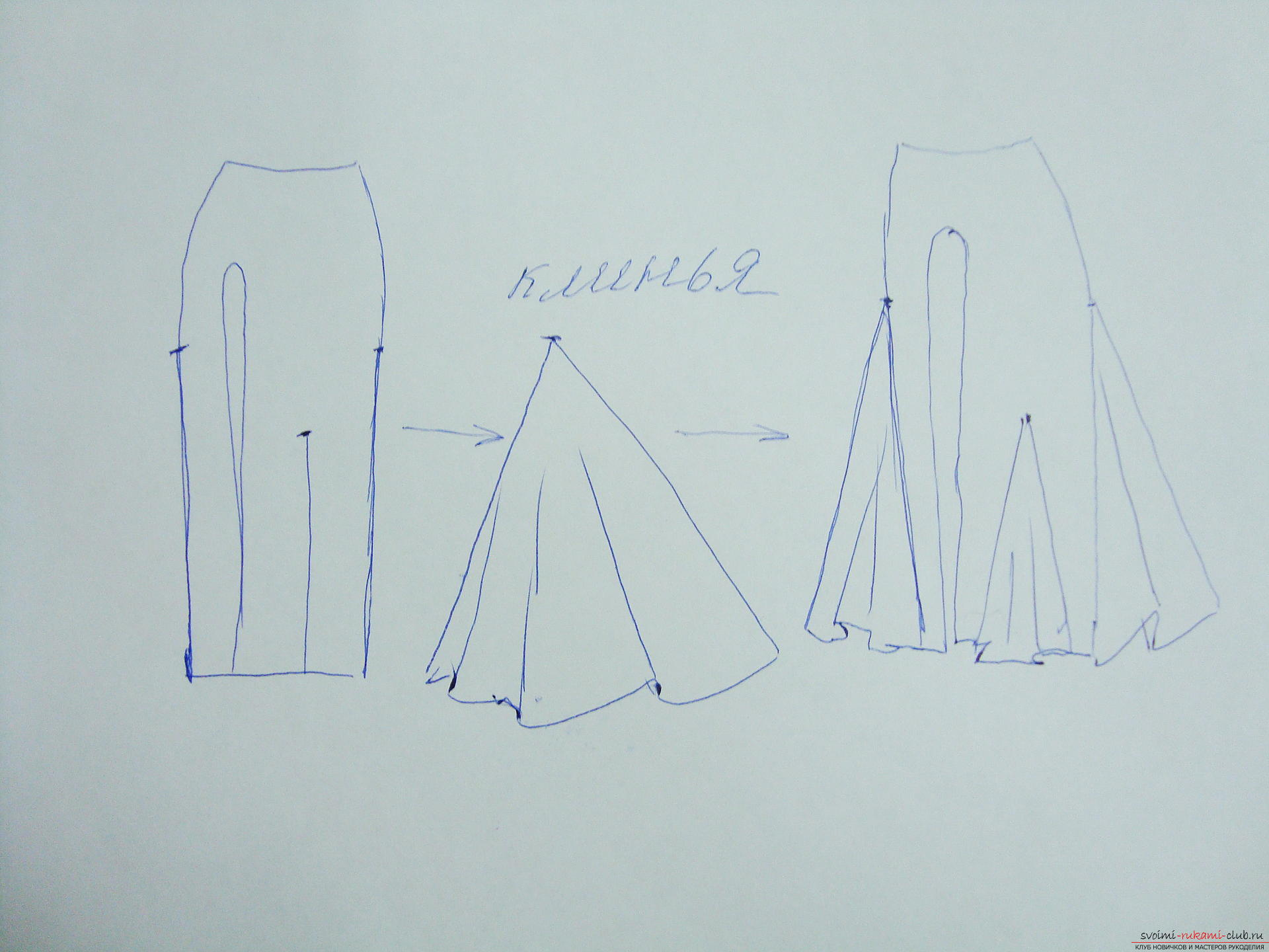A beautiful dress can be sewn at home, using a pattern and outline .. Photo # 2
