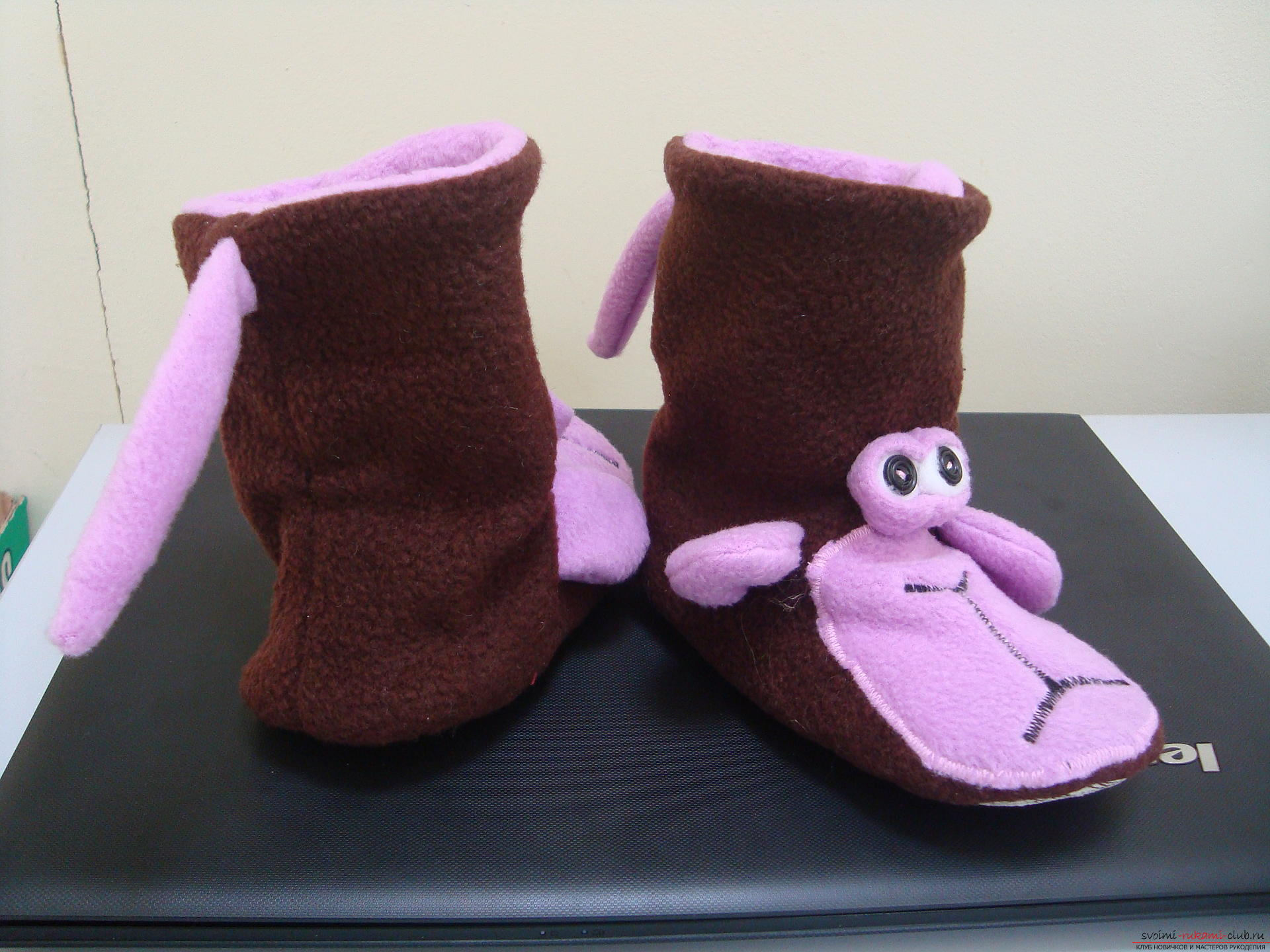 This master class will teach how to sew hand-made house slippers with the symbol of the year - the monkey .. Photo # 2