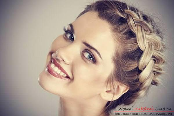 Interesting ideas for creating hairstyles with pigtails on medium hair themselves. Photo №1