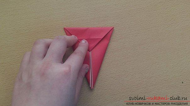 This detailed master-class contains an origami-dragon scheme made of paper, which you can make by yourself. Photo # 13