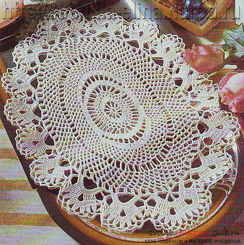 How to tie an oval napkin with your own hands crochet, charts, description and photo of the products .. Photo # 3