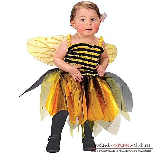 How to make a bee suit for yourself on New Year's Eve. A bright and original costume for a child with their own hands and minimal costs. Photo №1