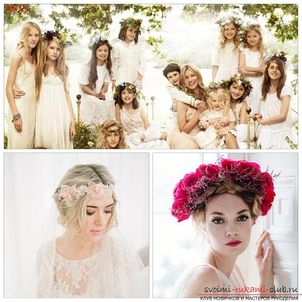 How to perform a beautiful wedding dress on medium hair with your own hands. Picture №10