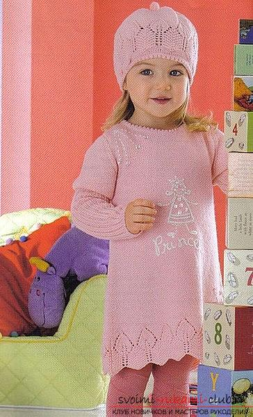 Pink dress with pockets for a girl 3 years old. Photo №1