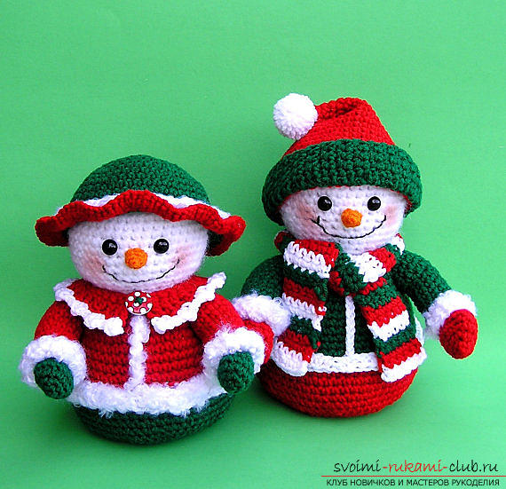 Bright snowman with amigurumi crochet with description and photo. Photo №5