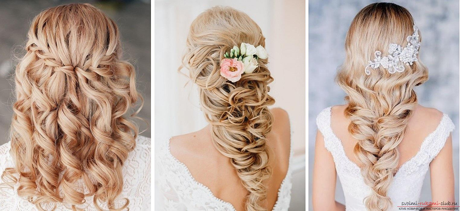 Photo gallery of wedding hairstyles for hair of different length. Picture №3