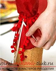 How to arrange a New Year's champagne for a presentation? Decoration of scrapbooking. Photo №6