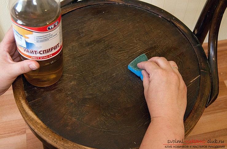 Декупаж на стария стол в нов с вашите ръце - техниката на декупаж. Снимка №1