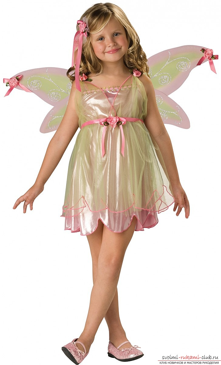 Simple fairy costumes. Costumes for girls with their own hands in photo-lessons .. Photo №1