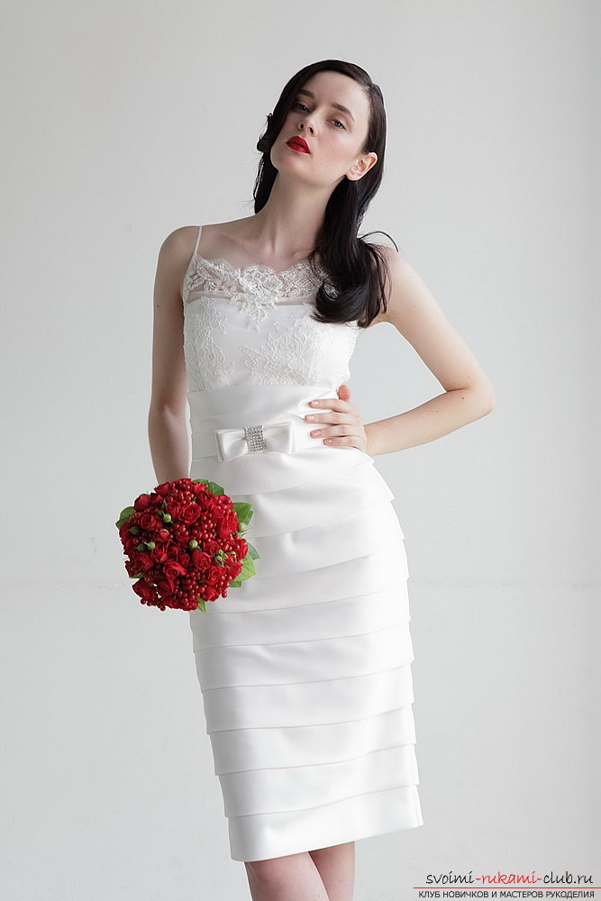 How to sew an elegant and sexy wedding dress. Pattern wedding dress - case with recommendations for tailoring. Picture number 1