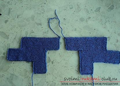 Ние се научаваме да плета чехли с две игли за плетене. Снимка №10