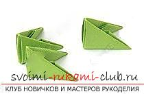 How to create crafts in the classic origami, creating a Christmas tree in the technique of modular origami .. Photo №60