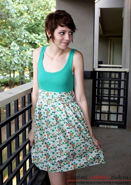 Fast tailoring of a fashionable summer dress. Photo Number 14