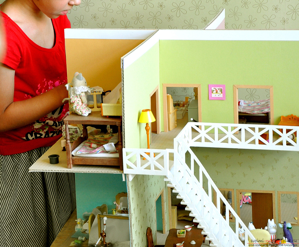Crafts made of cardboard boxes made by own hands. Photos and simple ideas .. Picture №3