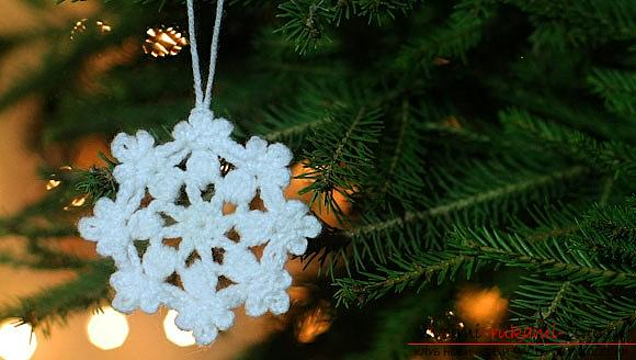 How to make a pattern for beginners in the form of snowflakes - a lesson and a master class. Photo №1