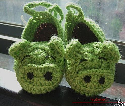 How to crochet the original and cute booties, how to choose the thread, make the necessary calculations .. Photo # 3