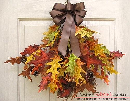 Crafts from maple leaves with their own hands: several lessons. Photo №4
