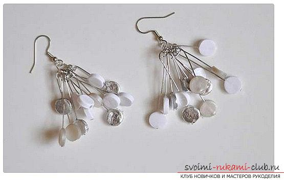 How to make pearl earrings with your own hands? Needlework made of polymer clay. Photo №8
