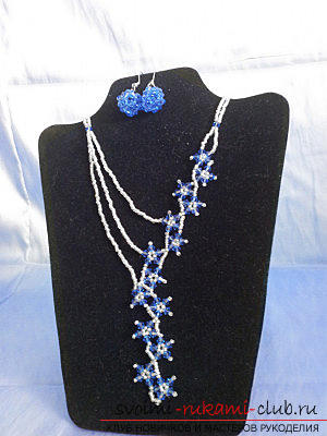 Several master classes on weaving necklaces of beads and beads, photo of finished products .. Photo # 1