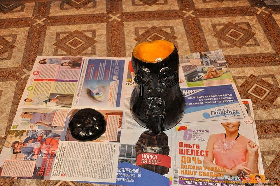How to make a lamp from a pumpkin with their own hands .. Photo # 10