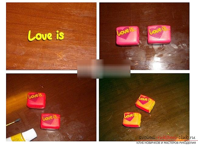 How to make a love is a love from polymer clay - a lesson and modeling. Photo №5