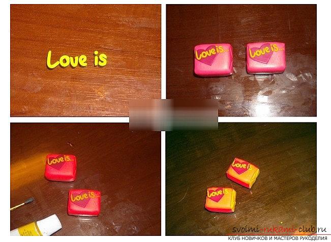Як зробити жевачку love is з полімерної глини - урок і ліплення. фото №5