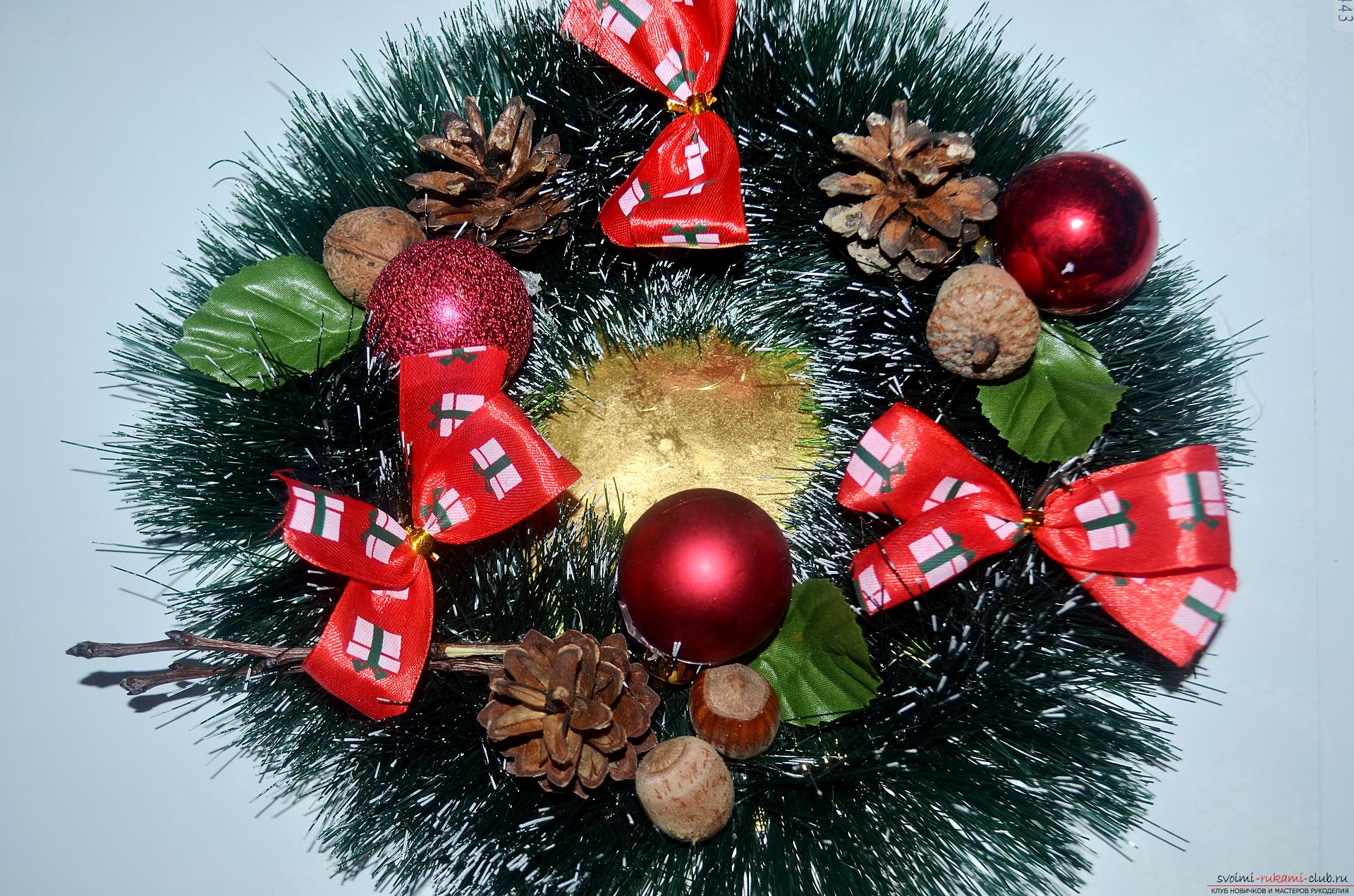 The master class will tell you how to make your own handiwork - a Christmas song with a candle. Photo №8