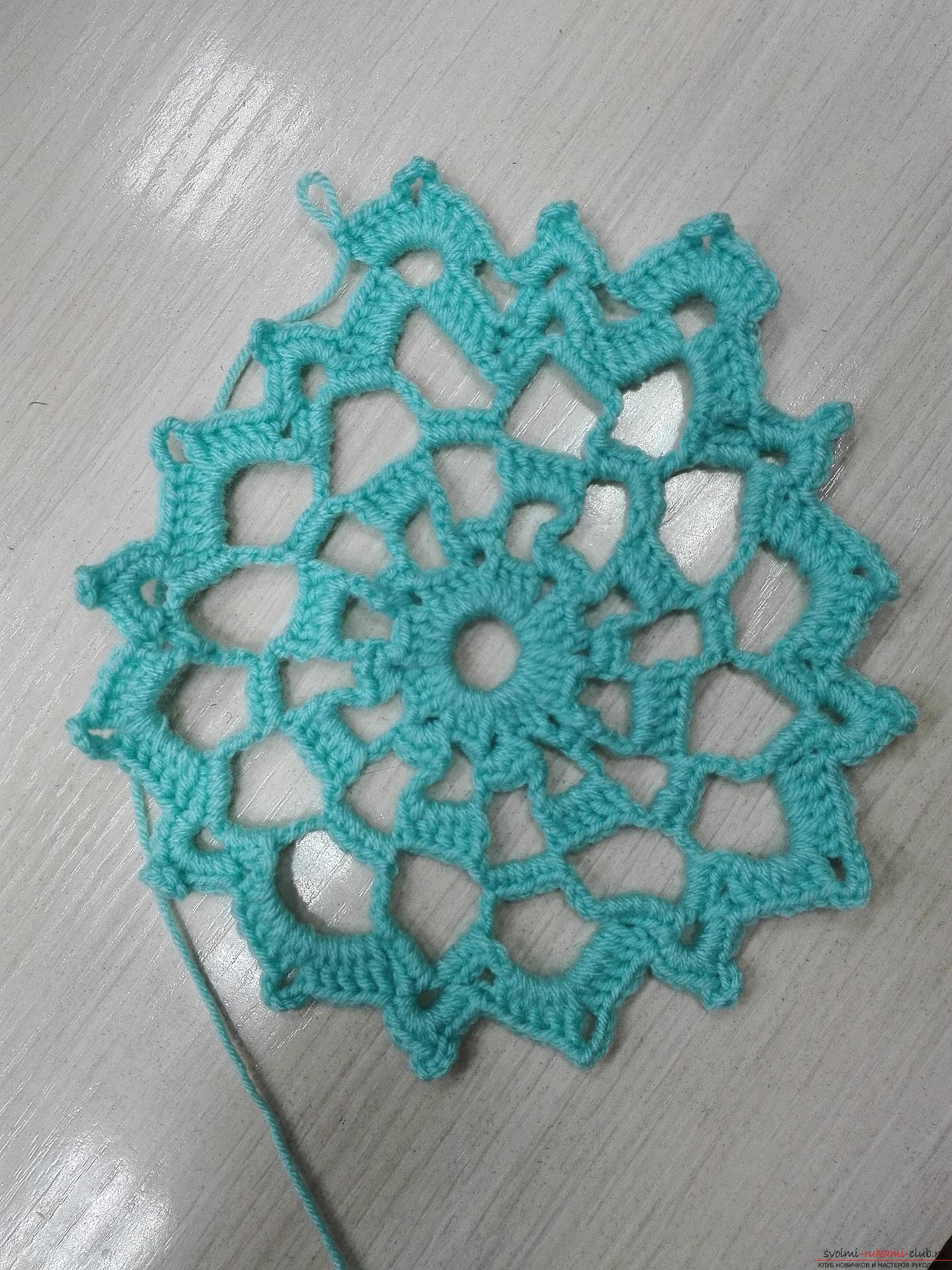 A master class on crocheting an openwork napkin will be clear even for beginners. Photo Number 14