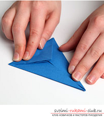 Blue dragon origami. Photo №5