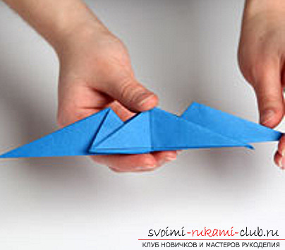 Blue dragon origami. Photo №27