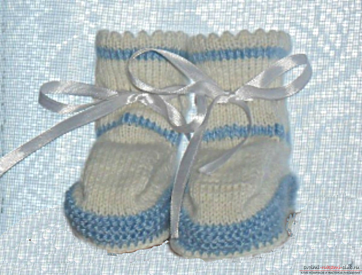 Knitted knitting needles for baby. Photo №1
