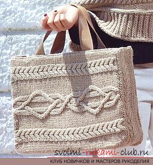 We knit the bag with the Aran pattern according to the scheme. Picture №10