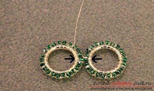 Several master classes on weaving earrings from beads, step-by-step photos and description .. Photo # 11