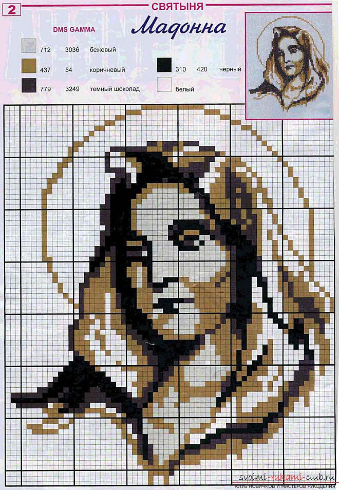 Icon embroidery schemes