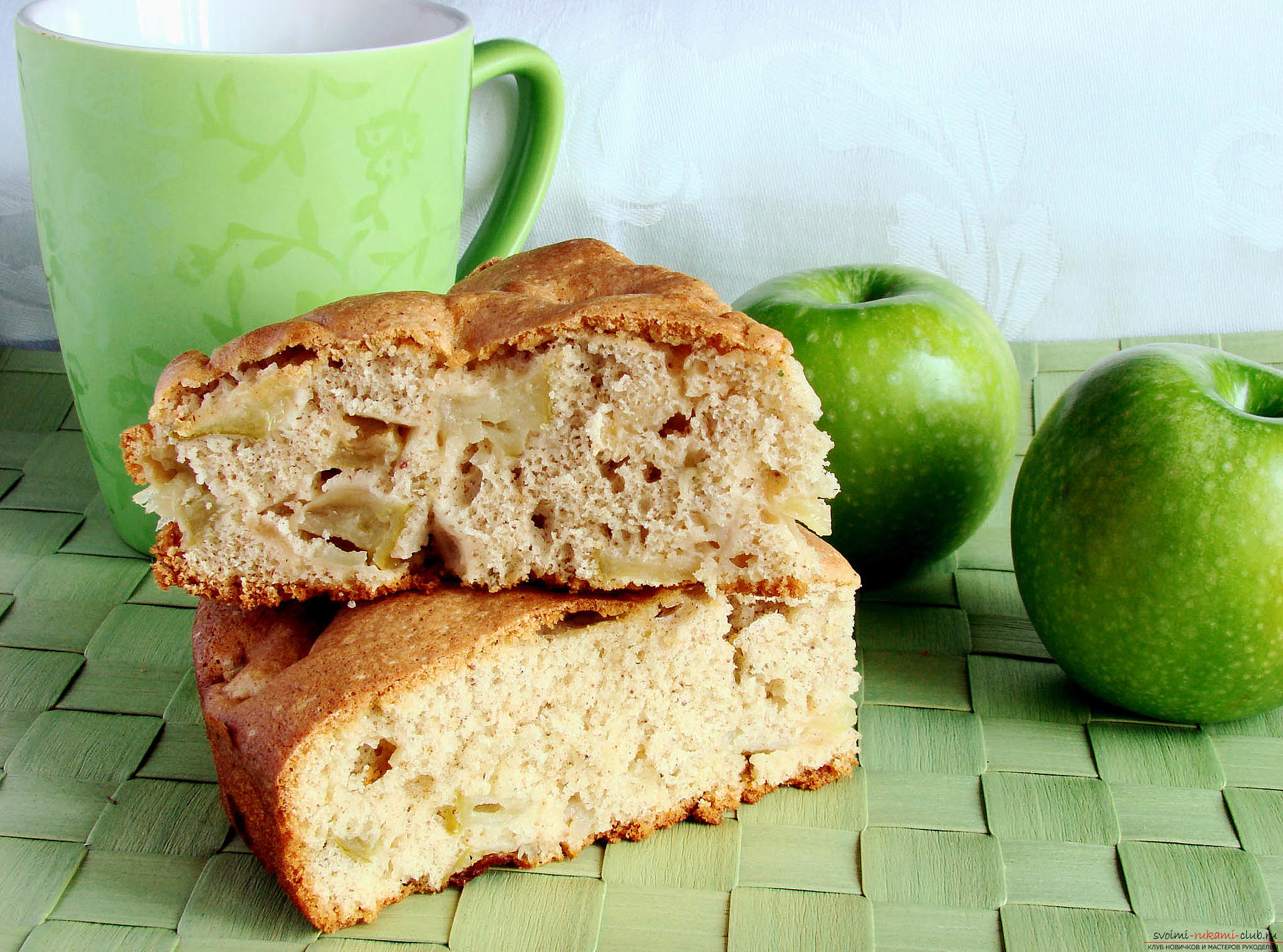 Apple-orange charlotte - a dessert with their own hands and a recipe for dessert. Photo №4